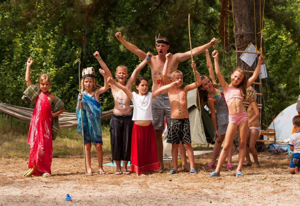 В душе лагеря