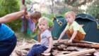 семейный отдых в палатках на Днепре
