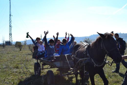 Езда на телеге в Буше вместе с лагерем Каникулы души