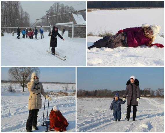 Зимнее время для отдыха в лагере на природе